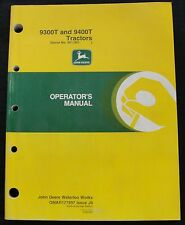 JOHN DEERE 9300T 9400T 9300 9400 T TRACTOR OPERATORS MANUAL SERIAL #901,001 & UP