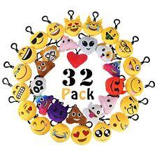 MelonBoat 32 Pack Emoji Mini Plush Pillows Keychain Decorations emoticon pill...