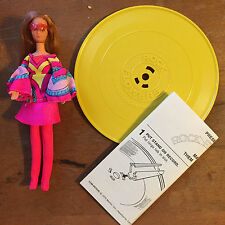 1970 MATTEL ROCK FLOWERS Doll LILAC with Record and Song Sheet