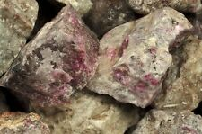 1 Pound of Natural Ruby in Quartz Rough Stones - Cabbing, Tumble Rocks, Reiki