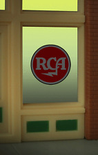 """RCA  TERRIFIC ANIMATED WINDOW SIGN -CAN BE TRIMMED AS SMALL AS 0.8"""" DIAMETER"""