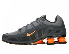 NIKE SHOX  TURBO 3.2 SL Mens Shoes SZ 10.5 455541-080 Dark Grey/Total Orange-Ant