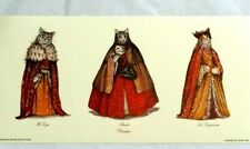 Cat Print from Venice, Aristocratic Venetian Cats in Costume Qty paper Bauta