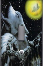 INDIAN WITH HOWLING WOLF LIGHT SWITCH PLATE COVER