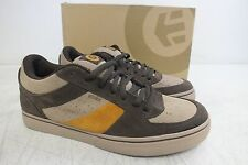 Etnes 'Faction' Brown & Orange Suede Skateboarding Shoes US Men's 8 EU 41 NEW