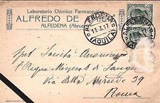 # ALFEDENA: testatina- ALFREDO DE AMICIS - Lab. Chimico Farmaceutico 1917