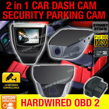 Dash Camera Backup Car Cam Security Parking Mode Motion Activated Crash Recorder