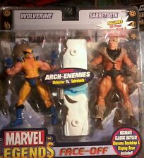 "WOLVERINE vs. SABRETOOTH|Marvel Legends Face-Off|closed mouth|toybiz 6"" Figure"