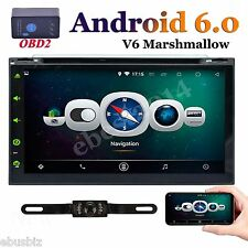"""Android 6.0 7"""" Double 2Din Car Radio Stereo DVD Player GPS Nav BT 3G WiFi HD+OBD"""