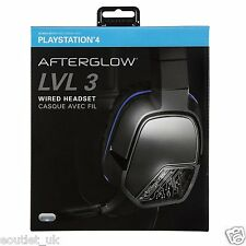 Afterglow LVL 3 Cuffie Gioco Stereo con Microfono per Sony Playstation 4 PS4