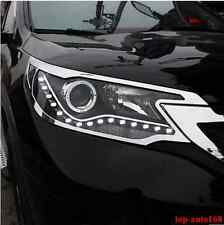 Chrome Front Headlights Head light lamp Cover Trim For Honda CRV CR-V 2012- 2014