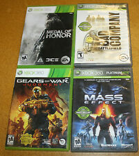 XBOX 360 4 GAME LOT GEARS JUDGEMENT MOH MASS EFFECT BAD COMPANY FREE SHIPPING