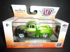 M2 Ford F100 1956 Metallic Green Flame Ground Pounders 1/64 82161-16 LTD 2888