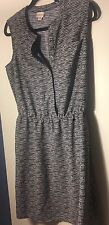 MERONA Women's Sleeveless Black and White Patterned Dress Size Medium (M)