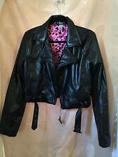 Abbey Dawn By Avril Lavigne Poly Leather Punk Rock Black Jacket Girls/Juniors XL