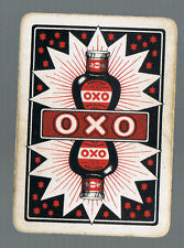 "Playing Swap Cards1 VINT WIDE ADVT FOR ""OXO ""  DECO ART WORK OXO  BOTTLE  AD21"