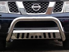 Nissan Navara D40 2005-16 Front Chrome High Bull Bar Nuge Bar Chrome Axle Nudge