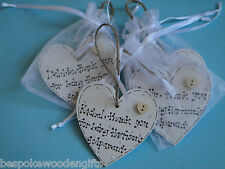 Hand Painted Christening Wooden Keepsake Favours Godmother God Father Aunt Uncle