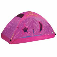 Pacific Play Tents Kids Secret Castle Bed Tent Playhouse For Full Size Mattress