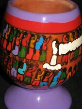 Decorative Holder Hand Painted Bride - Wedding Story Indigenous Mexican Pottery