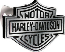 Harley-Davidson Trailer Hitch Cover, Hitch Plug, Brushed Aluminum