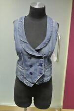 7 FOR ALL MANKIND DENIM VEST WOMEN'S SMALL