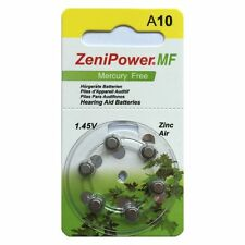 Zenipower Taglia 10 Mercury Free protesi auditiva BATTERIE X 60 CELLE