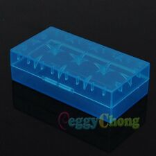 10 x Blue 18650 CR123A 16340 Hard Plastic Battery Case Holder Box Storage 10x