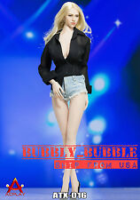 1/6 Sexy Female Deep V Shirt Jeans Shoes Set C For Phicen Hot Toys SHIP FROM USA