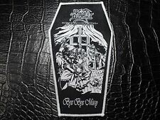 KING DIAMOND  COFFIN  WHITE BORDER  WOVEN PATCH
