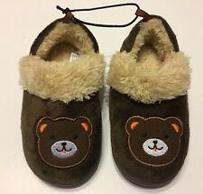 Slippers Shoes M 7-8 Brown Toddler Boys