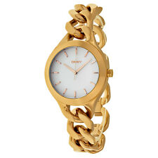 DKNY Chambers White Pearlized Dial Rose Gold-tone Ladies Watch NY2218