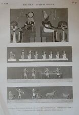 DESCRIPTION DE L'EGYPTE, (1825), THEBES, BYBAN EL MOLOUK....TABLEAU....