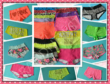Victoria's Secret VS PINK BOYSHORT MIX SIZE Wholesale LOT OF 25 PANTIES + 5 BAGS