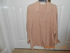 marks and spencer silk blouse, size 14 in dusted apricot