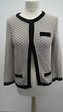 Wallis Petite  Knitted Jacket in Biege and Black size S