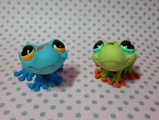 Littlest Pet Shop Lps #805 #806 Blue & Green Tree ranas
