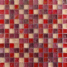 Hammered Pearl Pink Glass Mosaic