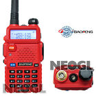 Baofeng Dual band UV-5R Red VHF+UHF Dual Band Radio 136-174 400-520Mhz UV5R
