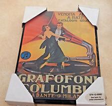 Vintage Decoupage Board Print Leonetto Cappiello Ad Grafofoni Columbia Dances