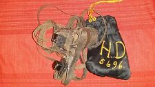 RARE ANTIQUE 1936 PRE- WW II TEFILLIN SET BAR MITZVAH GIFT EMBROIDERED SILK BAG