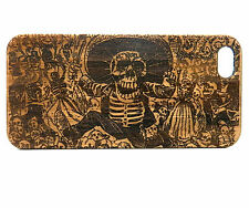 Calavera Oaxaquena Case for iPhone 5C Bamboo Wood Cover Day Dead Guadalupe Skull