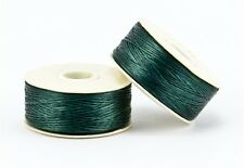 66m Bobbin, Size B pre-waxed Nymo, Beading Thread - EVERGREEN