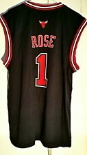 Adidas NBA Jersey Chicago Bulls Derek Rose Black sz M