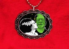 BRIDE OF FRANKENSTEIN MONSTER LOVE SCARY PENDANT NECKLACE
