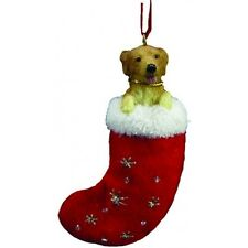 Golden Retriever Santa's Little Pals Dog Christmas Ornament