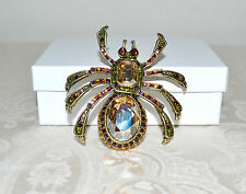 "New $160 HEIDI DAUS ""Heidi Long Legs"" Spider Pin Brooch SWAROVSKI CRYSTALS"