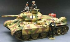 KING & COUNTRY WW2 GERMAN ARMY WS098 GERMAN CAPTURED T34 TANK SET MIB