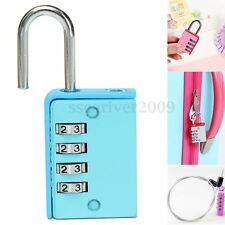 4 Digit Combination Code Home Door Locker Toolbox Lock Luggage Suitcase Padlock