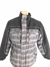 BIG CHILL BOYS GRAY BLACK & BLUE PLAID POLYESTER BLEND WINTER JACKET SIZE XL